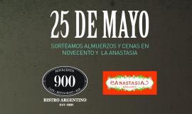 ¡Ganadores de los vouchers para disfrutar de una exquisita comida este 25 de mayo!