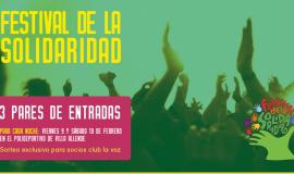 ¡Ganadores de entradas para el Festival de la Solidaridad!