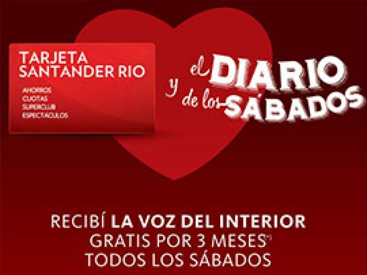 La Voz Sábados + 2 tarjetas Club La Voz suscribiéndote con Santander Río + Tarjeta Club La Voz